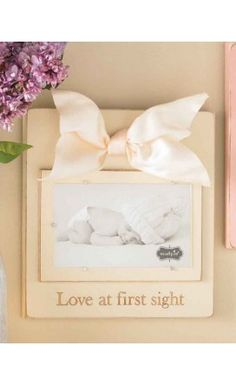 Love At First Sight Linen Frame by Mud Pie  $15.00