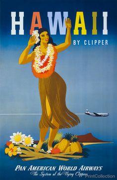Poster 0279 Tiki Bar Schild Vintage Sommer Hawaii Aloha Postereck Plakat