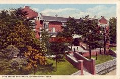 PINE BREEZE SANITARIUM, CHATTANOOGA, TN 1916 Lookout Mountain Tennessee, My Town, Historical Photos, Breeze, Postcards, Pine, Sunshine, Mansions, History