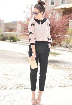 Black  amp  Blush Pantalones Con Pinzas 0000e90e94b