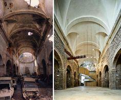 David Closes. Catalan architect, born 1967 -  Auditorium in the church of the Sant Francesc convent. Santpedor. 2008-2011 - Catalonia.