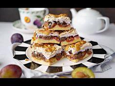 Proste Ciasto PLEŚNIAK ze śliwkami – Nowe, pyszne ciasto ze śliwkami, pleśniak na kruchym cieście z bezą. Ciasto jest wilgotne, kwaskowate od owoców, aromatyczne... Waffles, Pancakes, Malaga, Pain, Apple Pie, French Toast, Breakfast, Desert Recipes, Kuchen