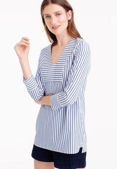 Thomas Mason® for J.Crew scoopneck tunic in classic stripe