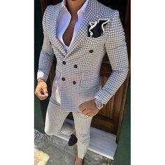 Checkered Suit, Plaid Suit, Best Suits For Men, Cool Suits, Classy Suits, Suit For Men, Prom Suits For Men, Wedding Outfits For Men, Trendy Suits For Men