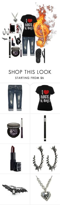 """""""Rock N Roll all night."""" by not-your-southern-bell ❤ liked on Polyvore featuring Almost Famous, Novelty, Laura Geller, Hot Topic, NARS Cosmetics, DANNIJO, BCBGeneration and memento"""