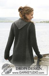 Ravelry: 110-1 jacket with pleats worked sideways pattern by DROPS design