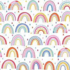 Rainbow Wallpaper, Kids Wallpaper, Trendy Bedroom, Kids Bedroom, Rainbow Print, Kids Rainbow, Chimney Breast, Classic Rugs, Daughters Room