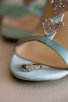 Heart-Shaped Wedding Ring|{Tiffany Blue & Red} Elegant Spring Wedding in Connecticut|Photographer:  Candace Jeffery Photography