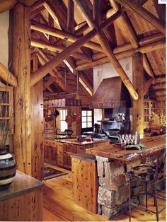 Love the wooden beams and the soaring ceilings. Amazing details