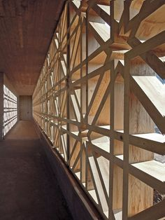 Islamic Cemetery Altach, Austria by Bernardo Badet: beautiful use of wood and pattern!