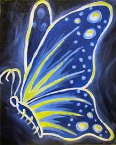 You Glow, Butterfly - Paint Nite - Lindsey Sniffin