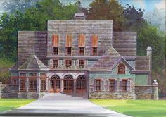 New American House Plan with 3055 Square Feet and 4 Bedrooms from Dream Home Source | House Plan Code DHSW38032