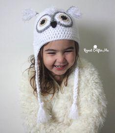 Guest Post: Crochet Snowy Owl Hat - Yarnspirations Blog