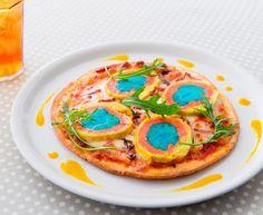 世界遺産をイメージしたビビッドカラーなピッツァ発売イエローストーン・ピッツァ