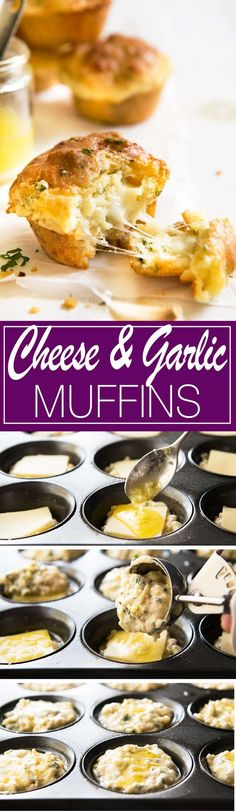 Cheese and Garlic Muffins  Made these last weekend, everyone said they really do taste like GARLIC BREAD!