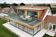 House with roof terrace House with roof terrace The post House with roof terrace appeared first on Terrasse ideen. terrace House with roof terrace - Terrasse ideen House Extension Design, Extension Designs, Glass Extension, Extension Ideas, Porch Extension, Cottage Extension, Rear Extension, Bungalow Extensions, House Extensions