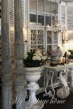 Decorating beautiful with architectural remnants