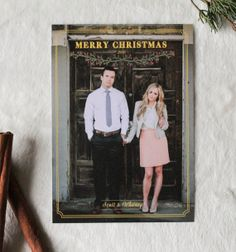 Watercolor Christmas Card Template or Print by Ruffled Ink Designs