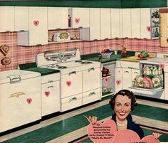 Explore the history of Steel Kitchen cabinets -- complete with pictures, a list of known brands, tips on assembling your own vintage steel kitchen and FAQ. Vintage Kitchen Cabinets, Old Kitchen, Kitchen Ideas, Metal Cabinets, Kitchen Decor, 1960s Kitchen, Kitchen Art, White Cabinets, Vintage Kitchen