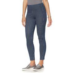 LYSSE Waist Stretch Denim Ankle Legging - Missy - Pattern/Print