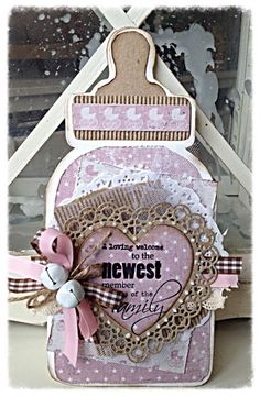 Card Making Templates, Card Making Tutorials, Making Ideas, Baby Girl Cards, New Baby Cards, 3d Cards, Cute Cards, Baby Barn, Baby Invitations