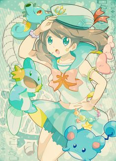 Pokemon Trainer- Aquatic style!! This girl's got plenty of pokemon swimming buddies, for sure!