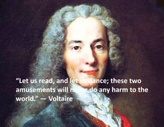 This is another quote from Voltaire, speaking on the necessities of human understanding and literacy to step away from the evils of Christianity and corruption. Famous Author Quotes, Writer Quotes, Self Quotes, S Quote, Wisdom Quotes, Quote Of The Day, Voltaire Quotes, Famous Philosophers, Freedom Of Religion