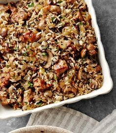 For this take on Thanksgiving dressing, two types of rice are cooked in a fragrant medley of mushrooms and onions sautéed in butter, bay leaf, and fresh sage. Recipe: Wild Rice and Basmati Dressing with Sausage and Sage    - CountryLiving.com