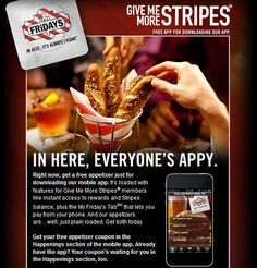 T.G.I.Friday's $$ Coupon for a FREE Appetizer!