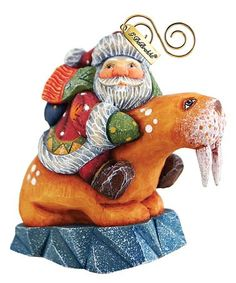 Another great find on #zulily! Santa Riding a Walrus Ornament #zulilyfinds