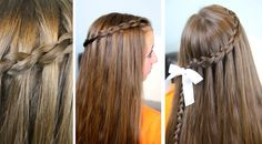 Dutch Waterfall Braid | Cute Girls Hairstyles #WaterfallBraid