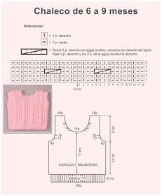 El Minihogar Crochet: CHALECO ROSA DE INVIERNO Baby Knitting Patterns, Free Knitting, Crafts, Monkey, Lily, Crochet Vest Pattern, Baby Vest, Crochet Baby Dresses, Tricot