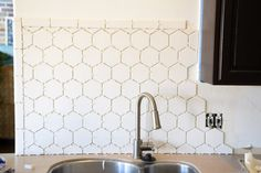 Fusion Pro Tile Grout - needs o sealing! Hexagon Tile in the Kitchen ...