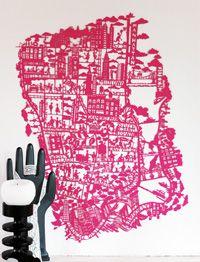 New York Paper Cut - Pink