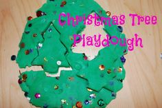 Christmas Tree Playdough Recipe.  So easy to make!   Pin this site!  25 Winter Activities in 25 Days!