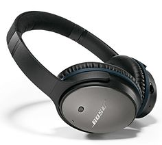 Bose QC25 Headphones - The new QC25 is every bit as awesome but is now a bit lighter with a slimmer profile and improved battery life, operating for 35-hours on a single AAA battery.
