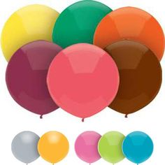 """Like the """"Kiwi Green"""", """"Island Blue"""", and Coral-ish colors, but the price/quantity is probably a bit out-of-reach. Interesting idea though. // 17"""" Outdoor Balloon Crystal or Fun Colors"""