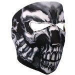 """Skull with revolvers """"assassin"""" full face neoprene mask - Zombie Gear Biker Mask, Motorcycle Face Mask, Motorcycle Helmets, Outdoor Halloween Parties, Halloween Gifts, Halloween Party, Half Face Mask, Best Face Mask, Face Masks"""