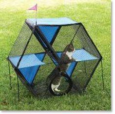 Hammacher Schlemmer The Outdoor Cat Playpen