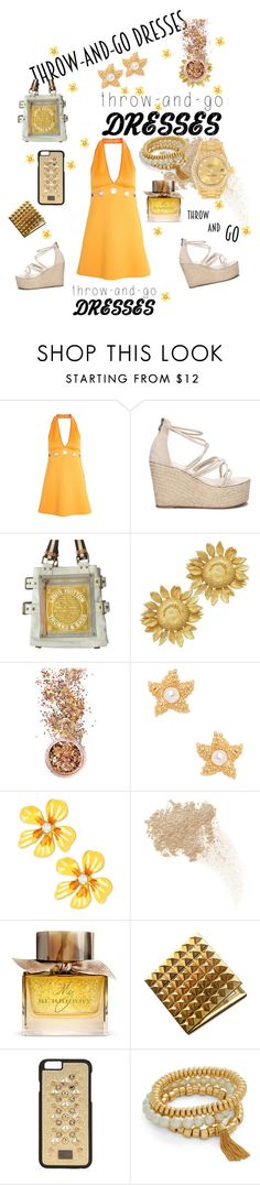 """""""Easy Peasy: Throw & GO Dresses"""" by mandimwpink ❤ liked on Polyvore featuring Clover Canyon, Louis Vuitton, In Your Dreams, Kenneth Jay Lane, Betsey Johnson, W3LL People, Burberry, Dolce&Gabbana, Vera Bradley and Rolex"""