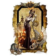 """""""Steam Punk Book Mark Doll"""" by shape-shifter on Polyvore"""