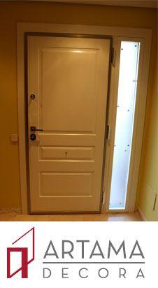 Puerta acorazada con panel especial para exterior Aluminio lacado