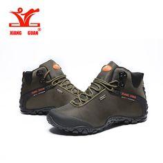 XiangGuan 2017 men's big size 46-48 Waterproof hiking boots, 82283 high top outdoor terrking shoes camping mountion shoes