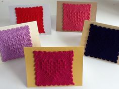 These are cute! Ravelry: JaneGro's Weavette cards