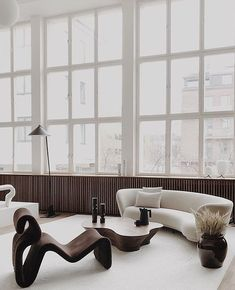 A Minimal Penthouse by Hans Verstuyft Architects — MODEDAMOUR- the best way to combine furniture. Amazing coordination of forms and curves the best way to combine furniture. Amazing coordination of forms and curves Interior Design Trends, Interior Design Inspiration, Home Design, Design Blogs, Room Inspiration, Design Ideas, Home Decor Furniture, Furniture Design, Modern Chair Design