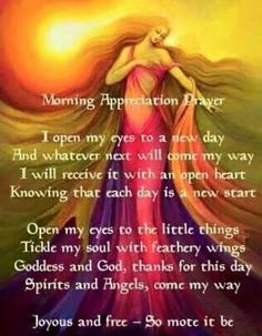 Morning Appreciation Prayer – Witches Of The Craft® Wiccan Spell Book, Spell Books, Under Your Spell, Magick Spells, Real Spells, Green Witchcraft, Morning Prayers, Morning Blessings, Book Of Shadows