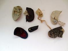 Antique Doll Shoes Lot of 7 Leather Victorian Indian | eBay