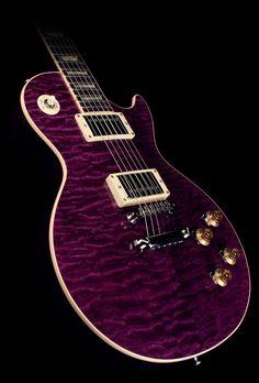 Gibson Custom Shop Les Paul Standard Quilt Top Electric Guitar Transparent Purple