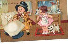 Oh oh not well  Humorous children French by sharonfostervintage, $4.00