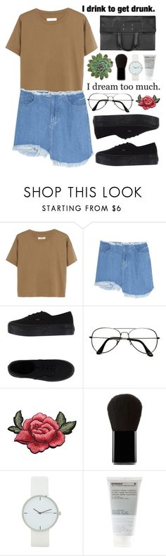 """#613 Simple day"" by mia5056 ❤ liked on Polyvore featuring Madewell, Marques'Almeida, Vans, ZeroUV, Edward Bess, Korres, Maison Margiela and Sia"